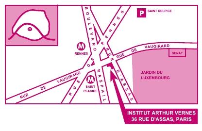 Plan d'accès Vernes Dermato Laser centre laser dermatologique au coeur de Paris